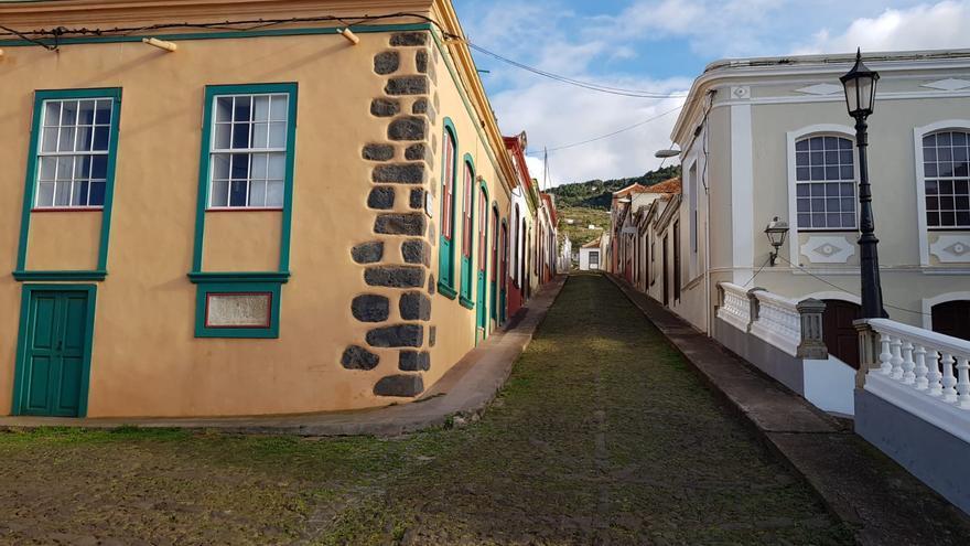 Casco urbano de Santo Domingo de Garafía.