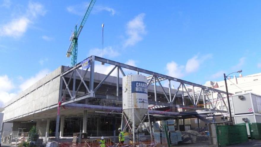 Imagen de archivo de la construcción de la Comisaría de Vecindario.