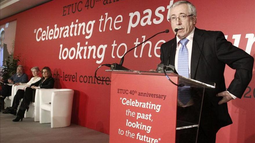 Toxo pide a Europa que dé pasos más decididos y aborde políticas diferentes