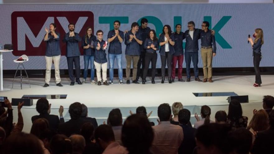 Participamtes de 'My Talk', el programa de Banco Santander en el que empleados del grupo se suben a un escenario con la intención de motivar, enseñar y aportar ideas a sus compañeros.