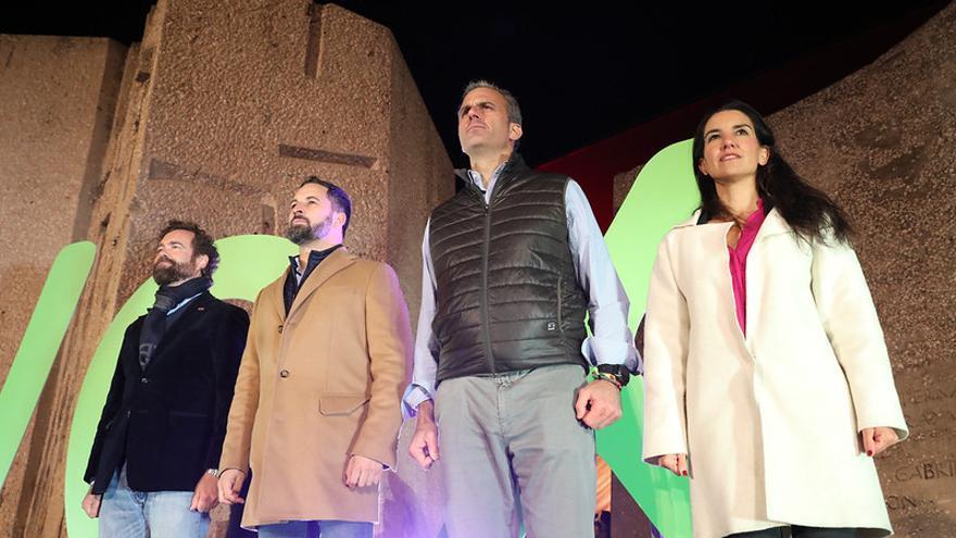Cierre de campaña de Vox en la plaza de Colón