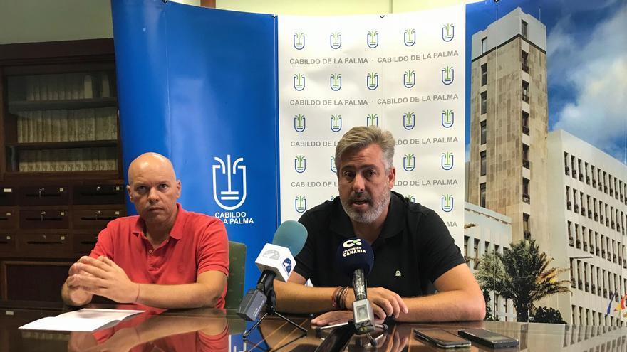 Jorge González (d) y Fernando Lozano este viernes en rueda de prensa.