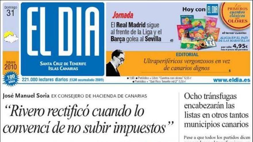 De las portadas del día (31/10/2010) #3