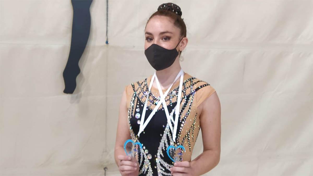 Una de las medallistas del GR Almodóvar del Río