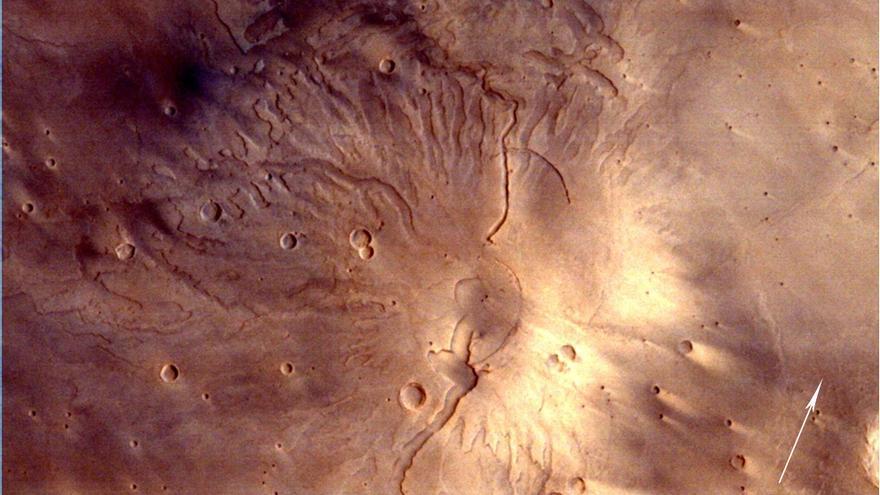 Superficie de Marte fotografiada desde la sonda india Mangalayaan / ISRO