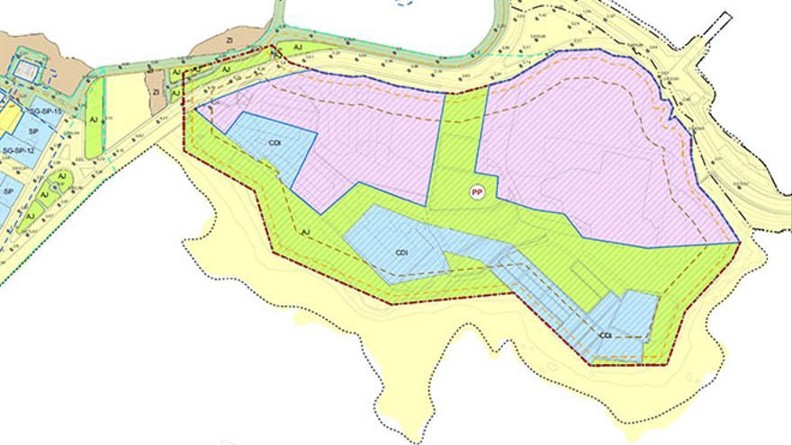 Plano de ordenación pormenorizada del Islote del Francés en el último borrador del Plan General.