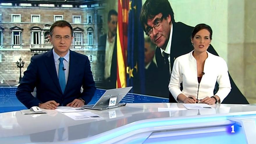 Imagen correspondiente al Telediario 2 de este domingo