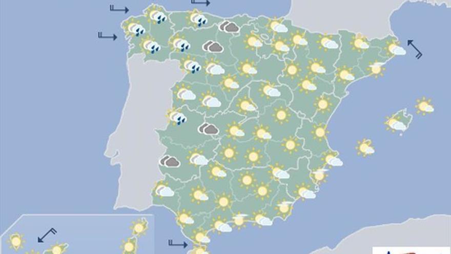Aemet prevé para mañana viento fuerte en Galicia y en montañas del norte