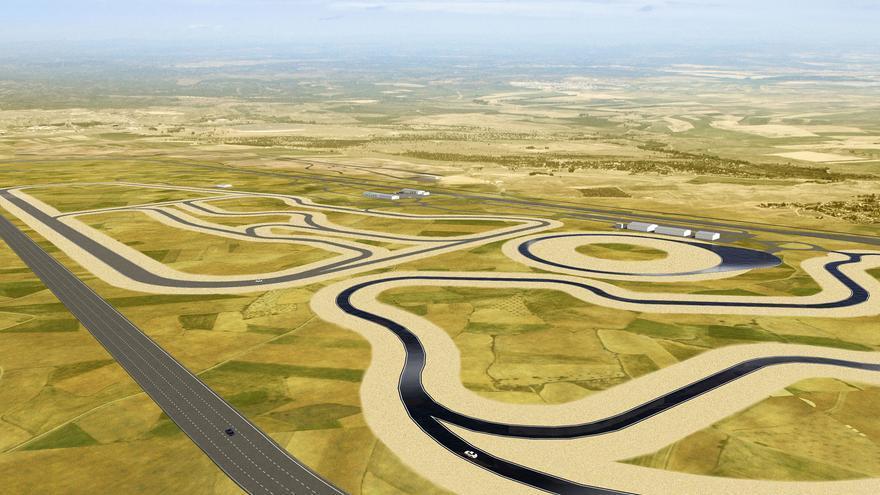 Trazado del futuro circuito de pruebas de Nokian Tyres en Santa Cruz de la Zarza (Toledo)