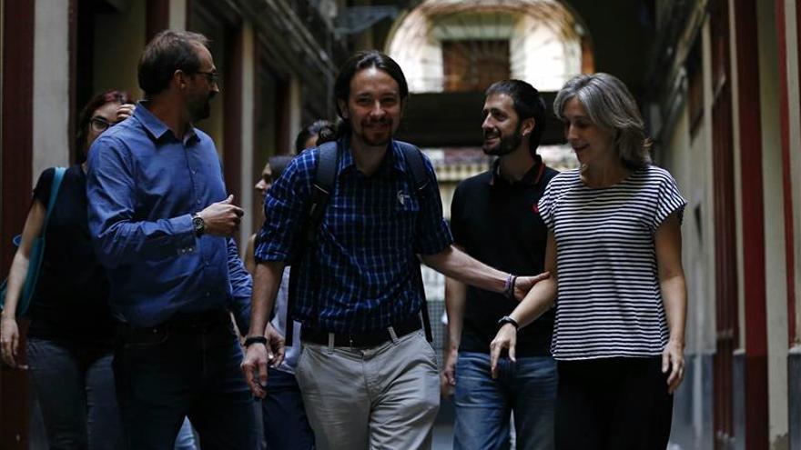 Dirigentes de Podemos e ICV en una foto de archivo
