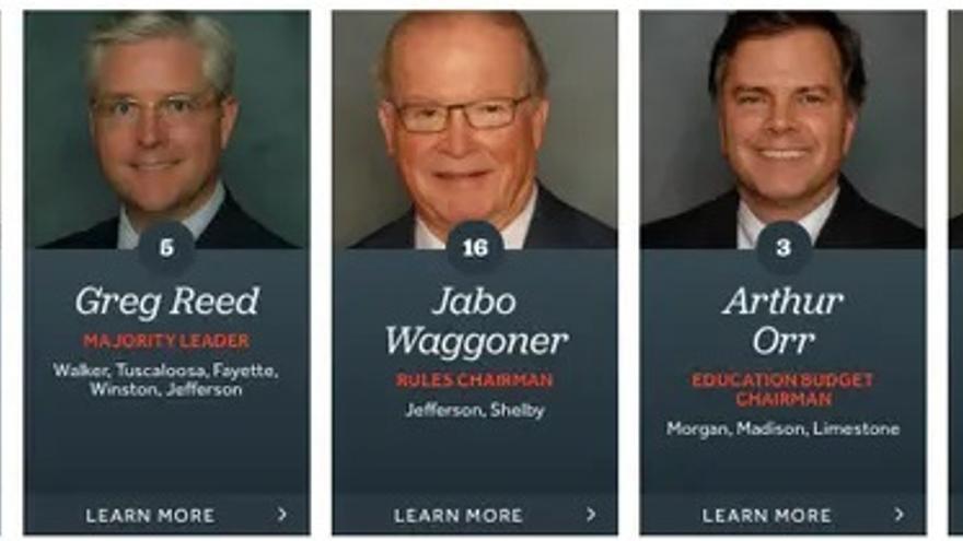 Líderes republicanos en el Senado de Alabama