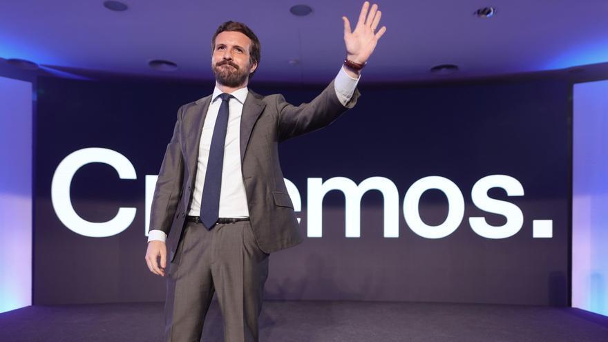 Pablo Casado en una rueda de prensa el 14 de junio.