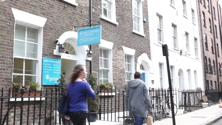 La fachada de la Clínica Marie Stopes, en Londres.