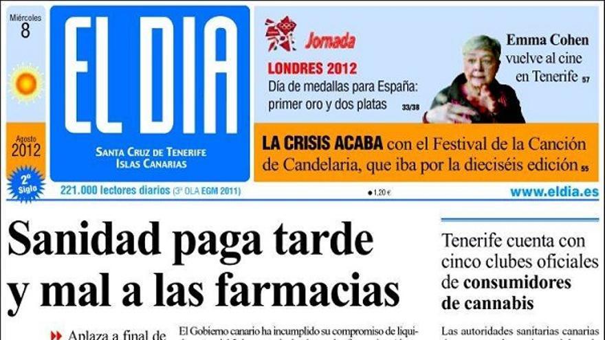 De las portadas del día (08/08/2012) #4