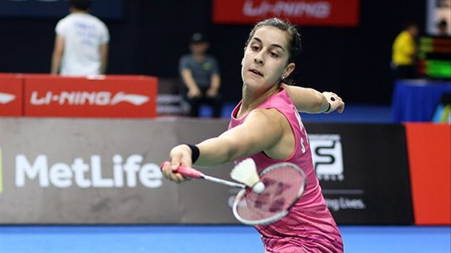 La campeona onubense Carolina Marín