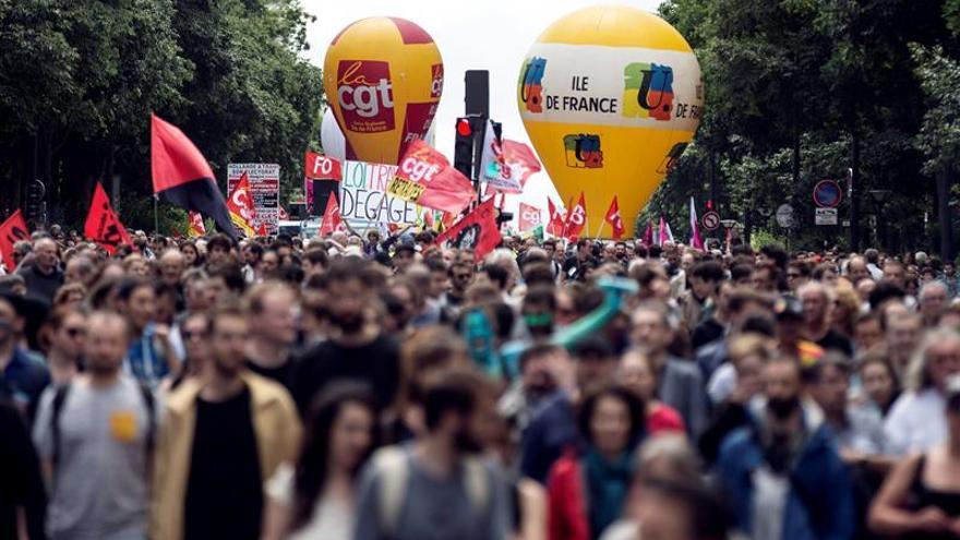 Los sindicatos franceses convocan una nueva marcha para el 15 de septiembre