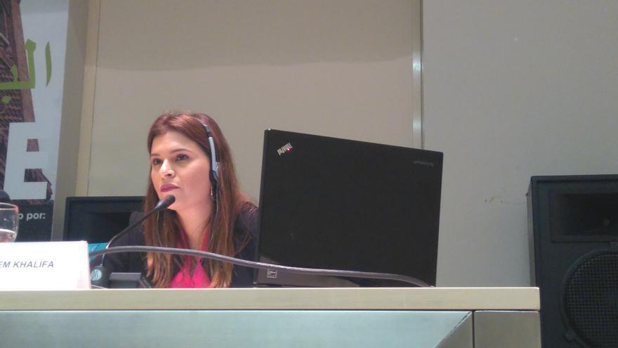La periodista bahreiní Reem Khalifa, en Madrid / Leila Nachawati