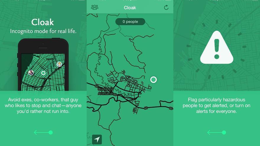 """La aplicación Cloak, """"el modo incógnito de la vida real"""""""