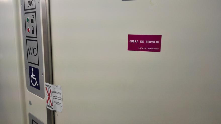Servicio adaptado clausurado wc tren discapacidad Renfe