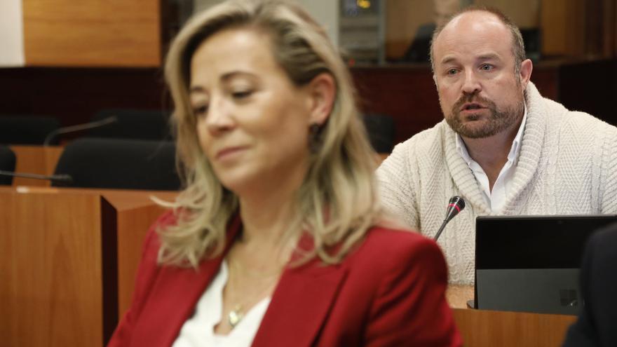 La diputada del PP Lola Merino y el diputado de Ciudadanos Alejandro Ruiz