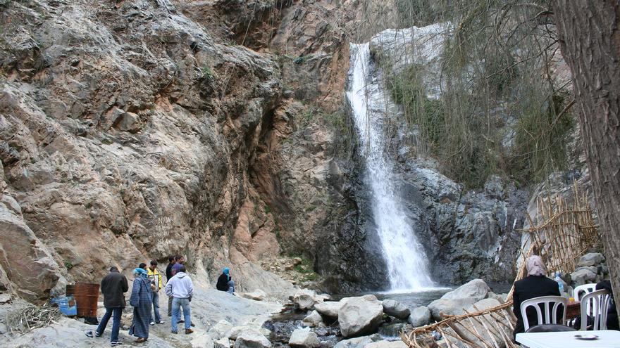 Una de las cascadas del Río Oukira. Ninara