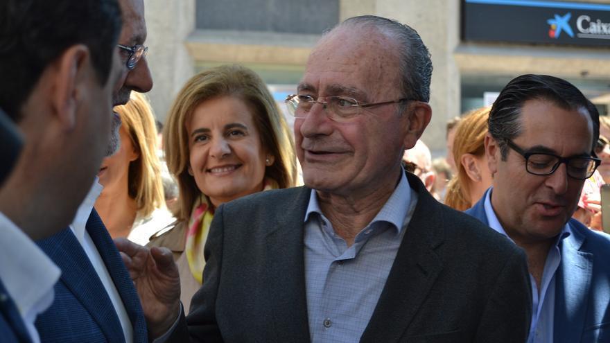 Francisco de la Torre, junto a Fátima Báñez y Mariano Rajoy, en una visita reciente del presidente del Gobierno | Foto: Néstor Cenizo