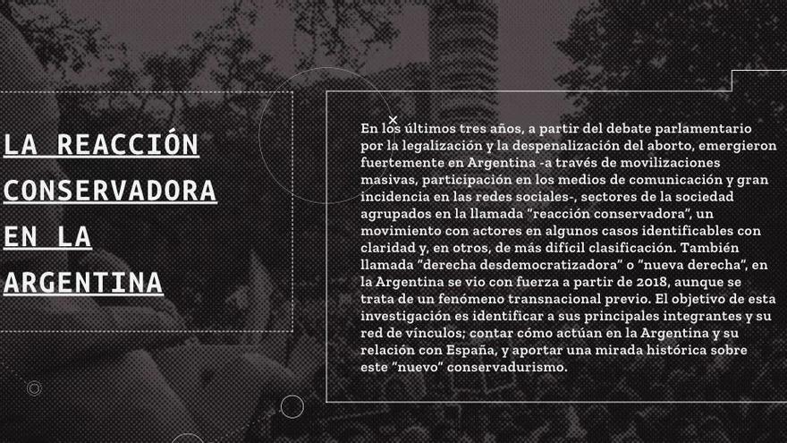 La reacción conservadora el sitio publicado por un grupo de periodistas y que elDiarioAR publicó parcialmente. La web se encuentra caída desde el domingo 13 de junio.