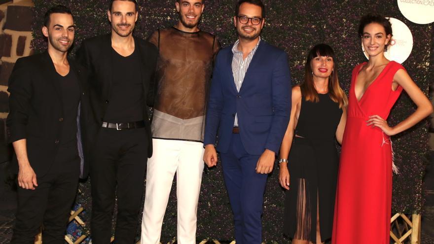 El consejero Jordi Pérez con los diseñadores palmeros.