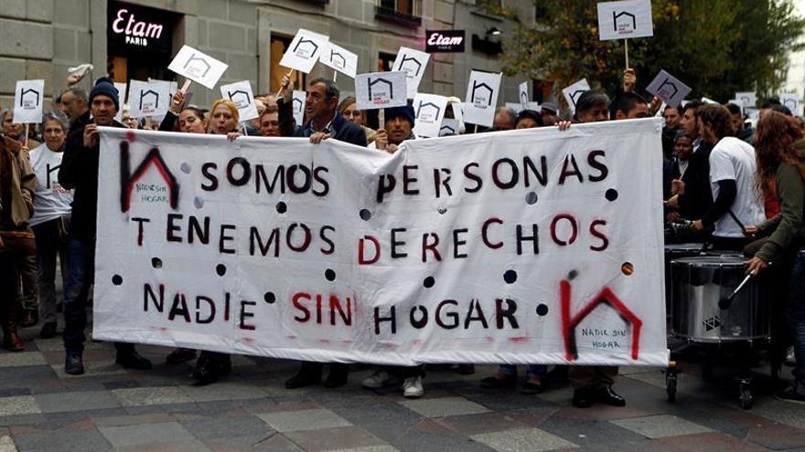 """Los 40.000 """"sin techo"""" de España se quejan de la indiferencia de la sociedad"""