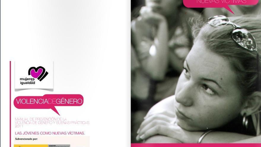 Una de las páginas del manual Las jóvenes como nuevas víctimas