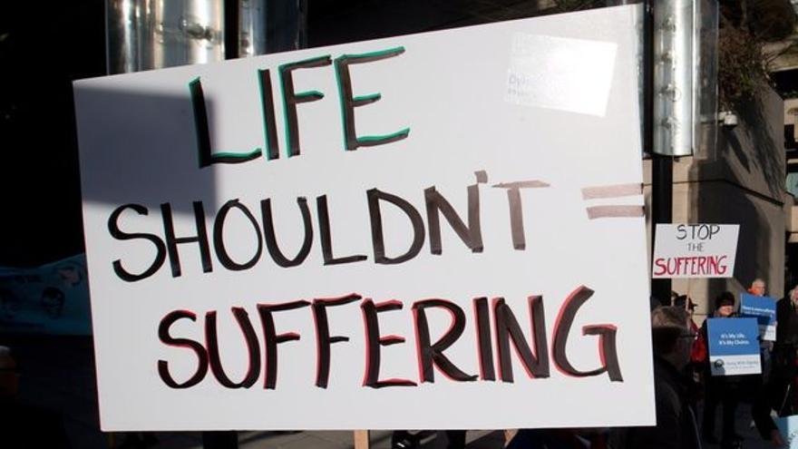 Cartel por el derecho a decidir sobre la eutanasia, caso de Brittany Maynard / Foto: right_to_die