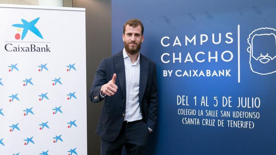 Sergio Rodríguez durante el Campus Chacho celebrado en Santa Cruz