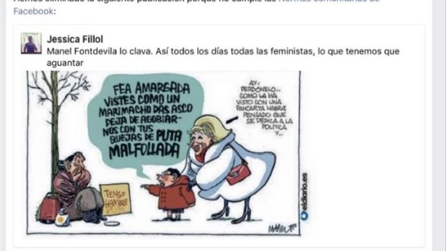 Facebook elimina una viñeta de Manel Fontdevila