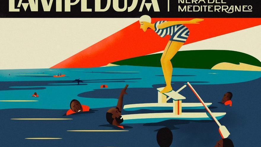 Lampedusa, la perla negra del Mediterráneo. Postal de Alberto Casagrande e Ilaria Cairoli
