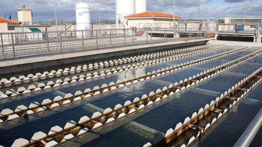 Estación de tratamiento del agua de la MAS. Foto de red social.