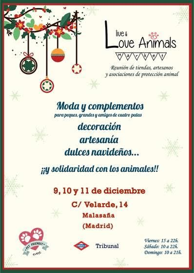 Live&Love Animals Market, mercadillo solidario con los animales