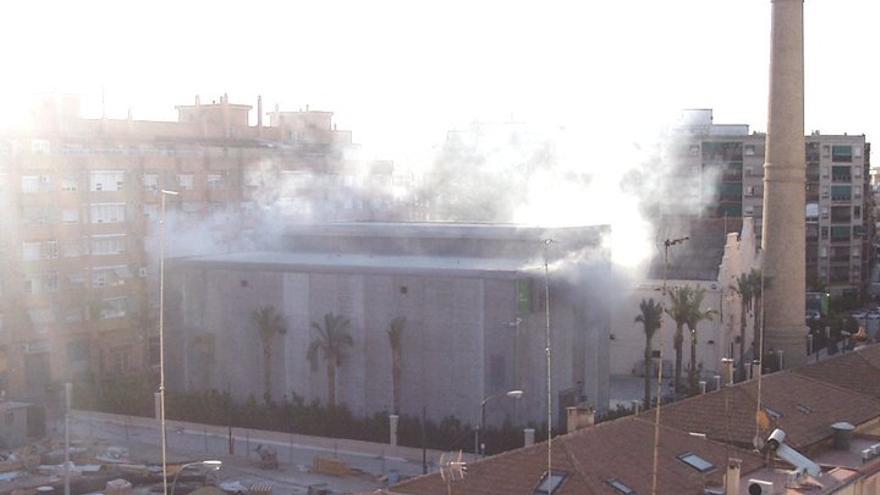 La subestación de Patraix en el momento de la explosión
