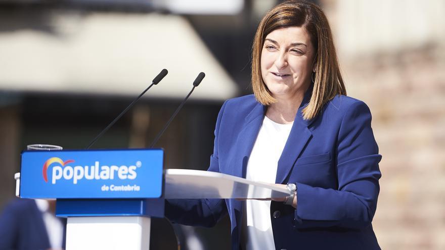 La presidenta del PP de Cantabria, María José Sáenz de Buruaga.   PP