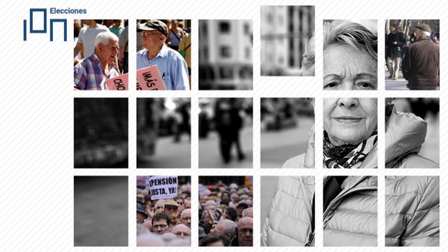 Los pensionistas son uno de los colectivos más activos en la movilización en la calle. Toñi, a la derecha.