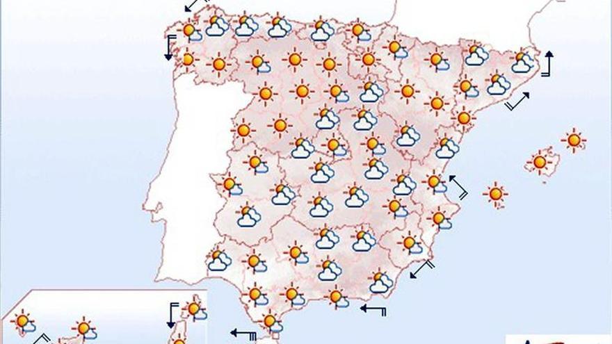 Mañana, rachas de viento fuerte en el litoral gallego y área del Estrecho
