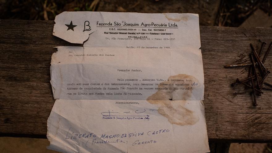 La hacienda São Joaquim mandaba comunicados como este a los quilombolas para reclamar la propiedad de la tierra.