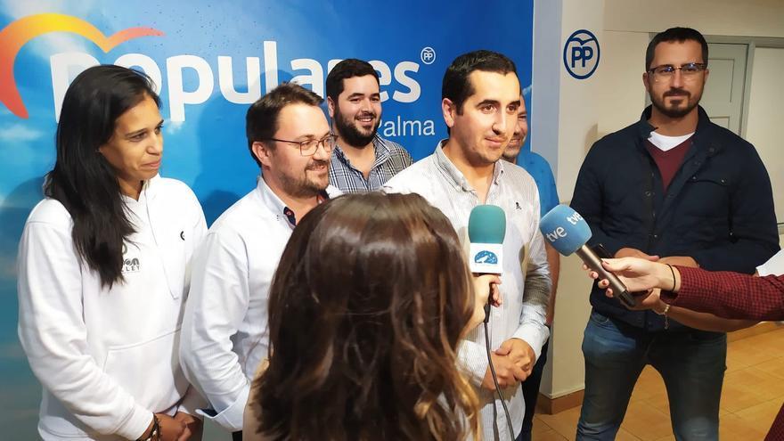 Borja Pérez atiende a los medios tras conocer su victoria.
