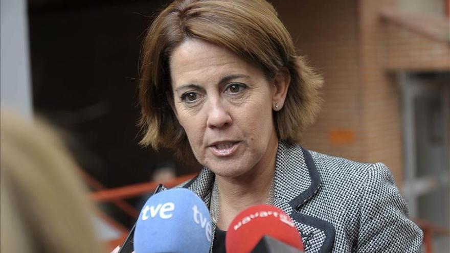 """Barcina muestra su """"imparcialidad total"""" con los candidatos de UPN a la Presidencia"""