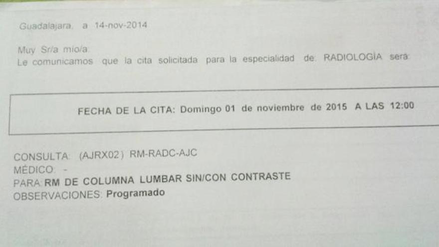 Cita médica para dentro de un año, Guadalajara.