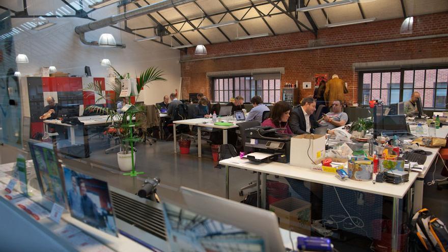 Oficinas de coworking en Betacowork, Bruselas. Foto: David Plas