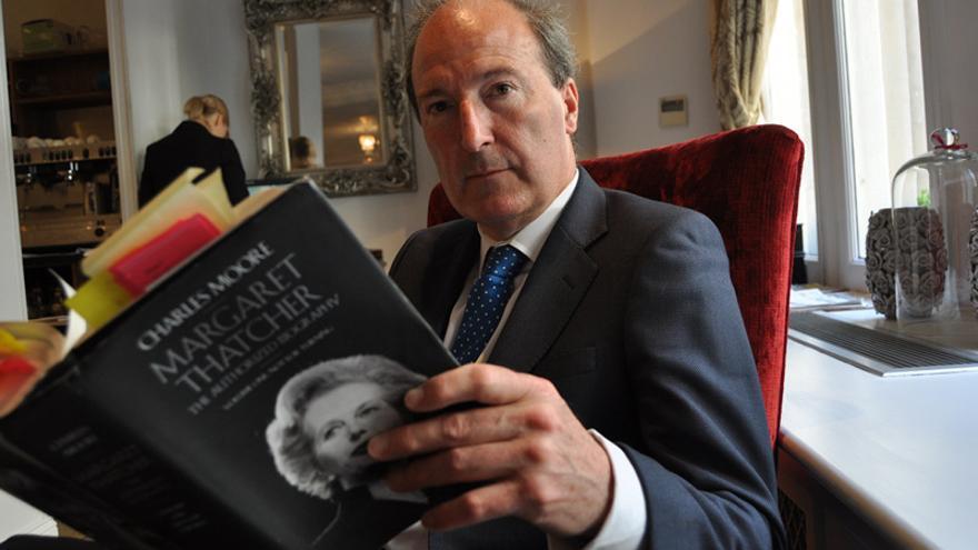 """Charles Moore: """"Thatcher aspiraba a tener lo que quieren los hombres: dinero, guerra y poder"""". Foto: Maruxa Ruiz de Árbol."""