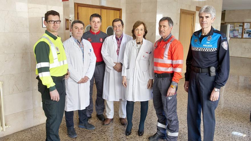 El Hospital Reina Sofía de Tudela acuerda con las policías un protocolo de gestión de pruebas de alcoholemia y drogas