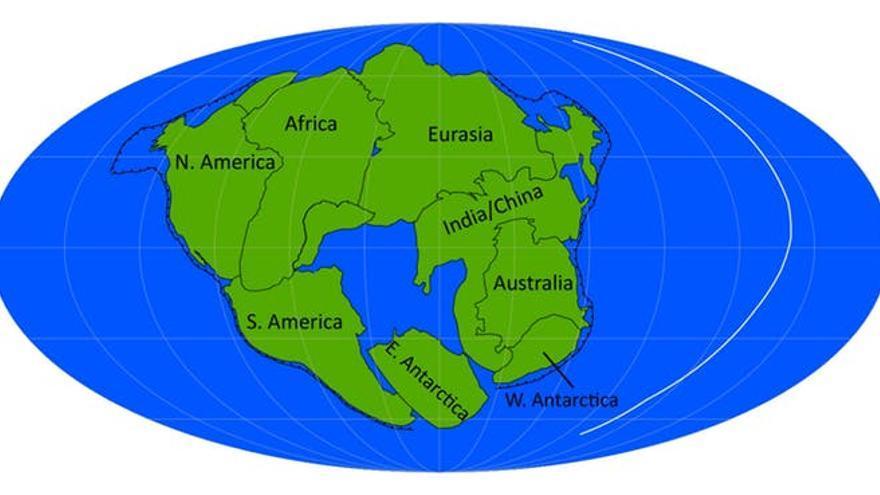Pangea Última, formado por el cierre del océano Atlántico. Author provided