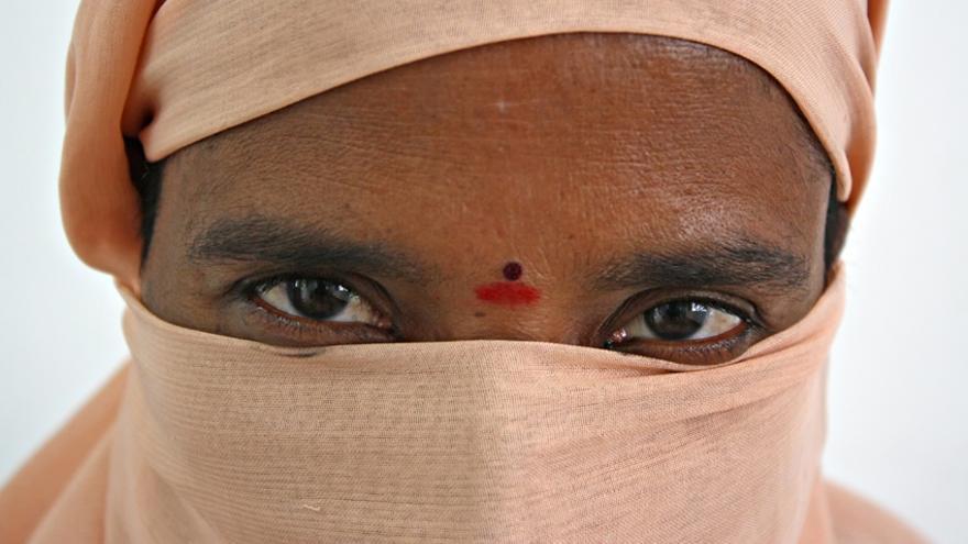 Nagalaksmi, mujer india de 37 años víctima de trata con fines de explotación sexual que se negó a prostituirse/ Rafa Gassó