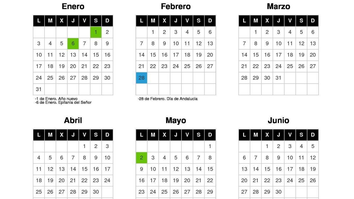 Calendario días festivos Córdoba 2022